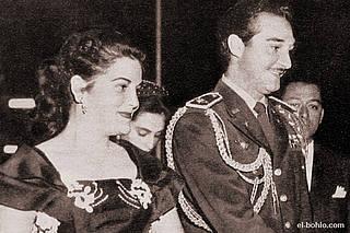 Mi madre, Octavia Ricart, junto a mi padre, Ramfis Trujillo