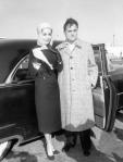 Con Mike Todd, 23 de enero de 1957