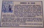 Mosaico en memoria de Rodrigo de Jerez
