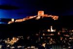 Imagen nocturna del Castillo de Lorca