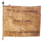 Estandarte que utilizaban los patriotas españoles durante la Guerra de la Independencia