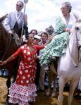 La gran Lola Flores era una de las asiduas e imprescindibles en las caminatas almonteñas.