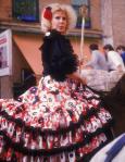 Otra de las personalidades que no suele faltar a su cita con la Virgen del Rocío, es la Duquesa de Alba.