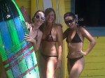 De izquierda a derecha, Cristina, Estefanía y Haydée
