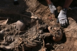 Excavación de la Asociación para la Recuperación de la Memoria Histórica en Milagros (Burgos)