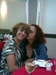 Con mi hija Haydée, durante el almuerzo