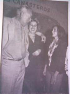 """Con Anthony Quinn en """"Los Canasteros"""""""