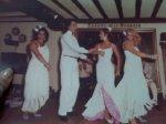 """En el tablao flamenco """"El Corral de la Morería"""", de izda a dcha, Manuela Molina, Ricardo Torres, Aída Trujillo y Marta Heredia"""