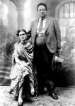 Frida y Diego, el día de su boda, en Coyoacán a 21 de agosto de 1929