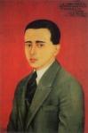 Retrato de Alejandro Gómez Arias, realizado por Frida, aunque existen dudas de su autenticidad
