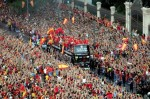 Celebración del triunfo de España por todo Madrid