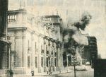 Bombardeo del Palacio de La Moneda en Santiago de Chile durante el Golpe de Estado