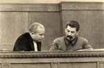 Kruschev y Stalin en 1936