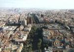 Vista aérea parcial de la capital de España