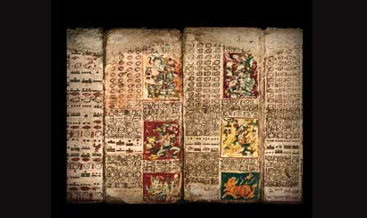 """El llamado """"Códice de Dresde"""", obra Maya que explica el calendario de Venus y alude a un Apocalípsis, aunque no le pone fecha."""
