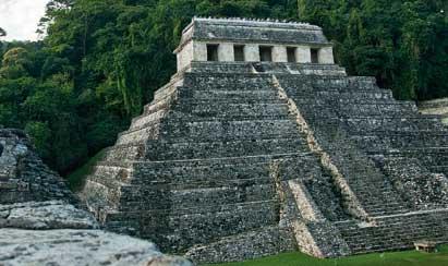 El Templo de las Inscripciones en Palenque (México)