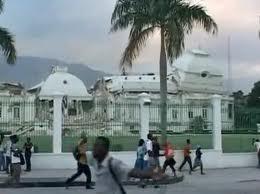 Palacio Presidencial después del terremoto