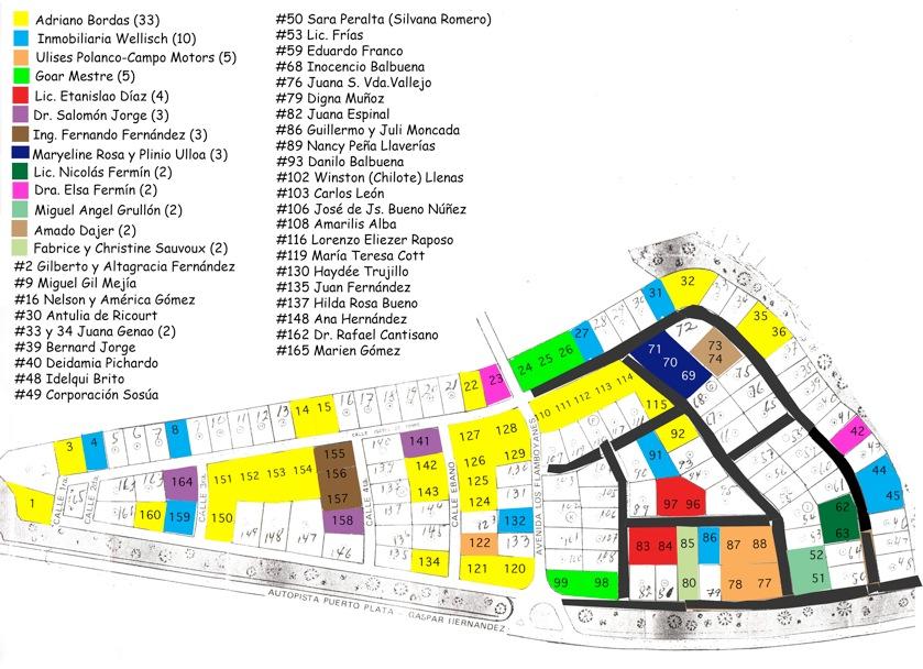 Plano actualizado del residencial