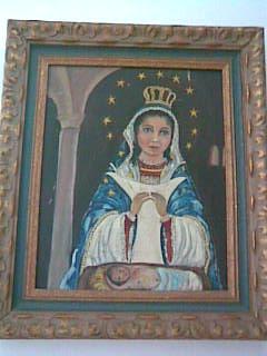La Vírgen de la Altagracia, por Aída Trujillo, óleo sobre lienzo