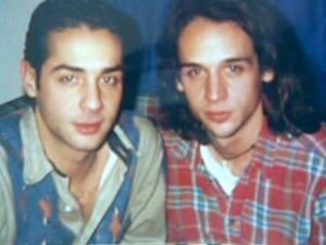 Con su hermano Carlos, 1994