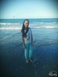 Melanie en la playa